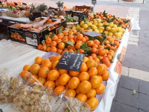 Fresh fruit at the market in the French Riviera - Jan 2014