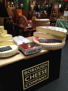 Cheese at the Borough Market, London. Jan 2014