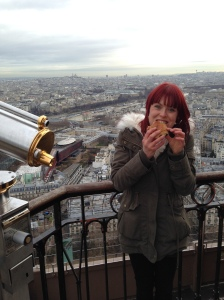 Croissant for breakfast on the Eiffel Tour - NYE 2013