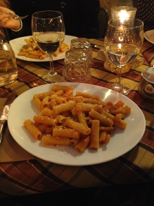 Penne near the Pantheone. Rome Jan 2014